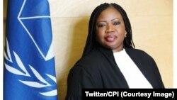 La procureure de la Cour pénale internationale Fatou Bensouda dans un communiqué de la CPI, 3 novembre 2017. (Twitter/CPI)