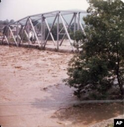 Johnstown is still flood-prone. This shot was taken in 1977, when 85 people died, hundreds were left homeless, and property damage topped $300 million in flooding that followed a summer deluge.
