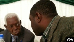 The late former Midlands governor and cabinet minister Cephas Msipa with his nephew, Lloyd Msipa (Jnr), who also died Monday at the University of Zimbabwe.