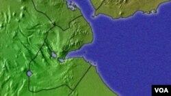 La carte géographique de Djibouti