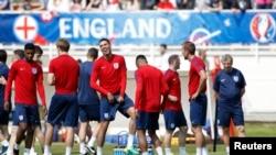 L'équipe d'Angleterre en session d'entrainement