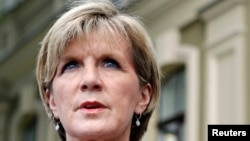 FILE - Australia's Foreign Minister Julie Bishop.