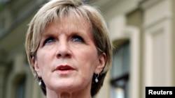 FILE - Australia's Foreign Minister Julie Bishop.