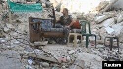 在阿勒頗的反政府戰鬥人員