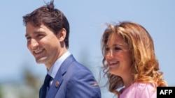 Kanadski premijer Justin Trudau sa suprugom Sophie, 2018.