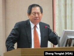 台湾国安局长蔡得胜 (美国之音张永泰拍摄)
