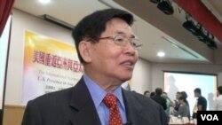 前高官张旭成称民进党执政会考虑放弃现有南海主权主张(美国之音 黎堡拍摄)
