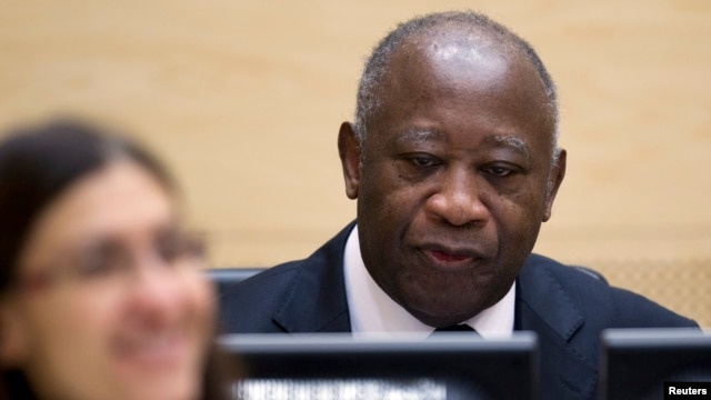 Laurent Gbagbo waits for the judges to arrive for his initial court appearance at the International Criminal Court in The Hague, December 5, 2011.