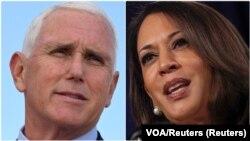 Učesnici debate kandidata za potpredsednika SAD-a Majk Pens i Kamala Haris (Foto: Reuters)