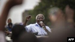 L'ancien chef de l'opposition Afonso Dhlakama à Maputo, au Mozambique, le 11 octobre 2014.