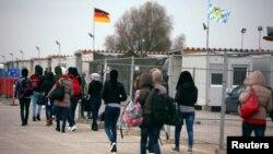 د جرمني د مونشن ښار ته نژدې د مهاجرو یو کمپ