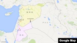 约旦和叙利亚边界地带拉克班(过境点)地区