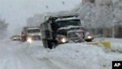 Ретко видена снежна виулица на југот од САД
