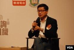 佔中倡議者之一陳健民表示,香港的民主有助北京處理全中國將來的統一問題(美國之音湯惠芸)