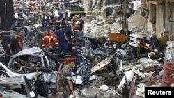 بیروت میں کار بم دھماکے کے بعد