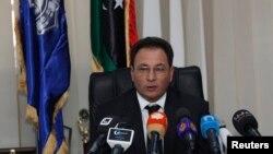 Libya's Deputy Prime Minister and interim Interior Minister Sadiq Abdulkarim during news conference, Tripoli, Jan. 29, 2014.
