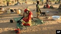 Des personnes déplacées dans le sud-est du Tchad.