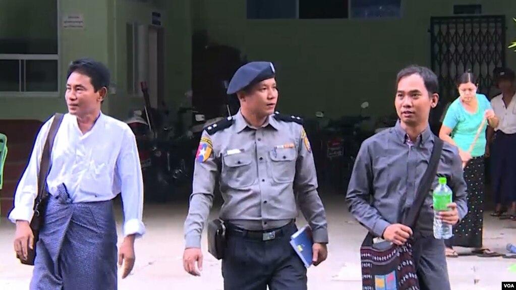 Myanmar Now အယ္ဒီတာကိုေဆြဝင္း (ယာအစြန္)။