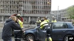 奥斯陆7月22日爆炸现场