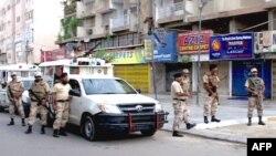 Правоохоронці на вулиці Карачі