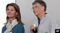 比尔盖茨与梅琳达·盖茨(资料照)