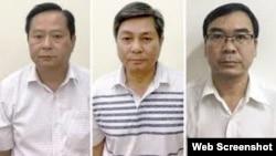 Từ trái sang: ông Nguyễn Hữu Tín, ông Đào Anh Kiệt và ông Trương Văn Út. Photo Bộ Công an