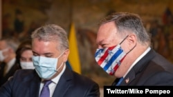Pompeo and Ivan Duque of Colombia