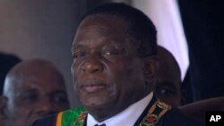 FILE: Zimbabwean President Emmerson Mnangagwa