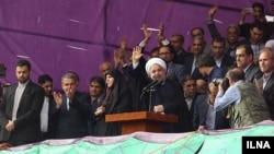 Tổng thống Iran Hassan Rouhani tái đắc cử sau khi giành được 57 phần trăm số phiếu trong số bốn ứng cử viên.