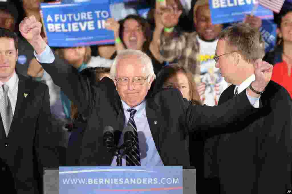ڈیموکریٹک کی طرف سے نامزدگی کے امیدوار سینیٹر برنی سینڈرز نے 60 فیصد ووٹ حاصل کیے۔