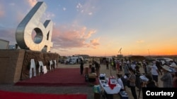 6月4日全球网络悼念六四会议的洛杉矶自由雕塑公园分会场 (照片由自由雕塑公园提供)