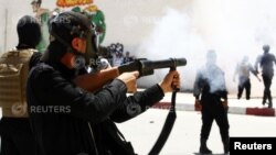 Supporters of the hardline Islamist group Ansar al-Sharia clashed with Tunisian police. (File)