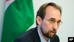 FILE - U.N. High Commissioner for Human Rights Zeid Ra'ad al-Hussein is talking with China about visiting Tibet.