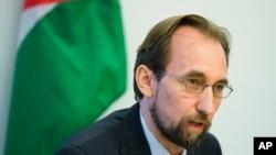 联合国人权事务高级专员扎伊德•拉阿德•侯赛因(资料照片)