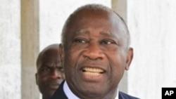 Laurent Gbagbo, President sortant de la Cote d'Ivoire.