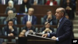 Turski predsednik Redžep Tajip Erdogan obraća se parlamentu, 23. oktobar 2018.