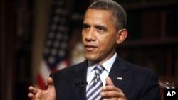 Tổng thống Obama trong cuộc phỏng vấn với hãng tin AP tại Tòa Bạch Ốc.