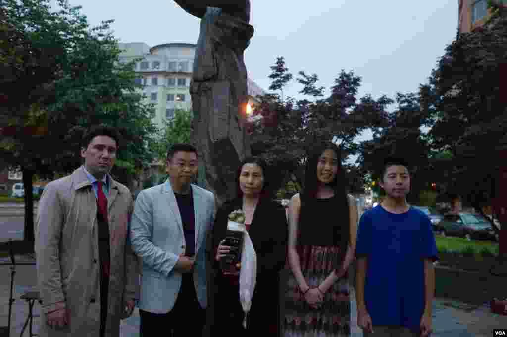华盛顿举行六四27周年烛光晚会纪念活动