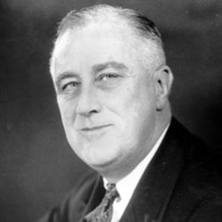 Franklin Roosevelt was re-elected to a second term in the White House by one of the largest victories in American history