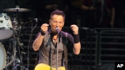 "FILE - Bruce Springsteen performs in concert with the E Street Band during ""The River Tour 2016"" in Philadelphia, Feb. 12, 2016. Springsteen has canceled his concert in North Carolina, citing the state's new law blocking anti-discrimination rules covering"