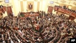 نمایی از پارلمان مصر، ۲۳ ژانویه ۲۰۱۲
