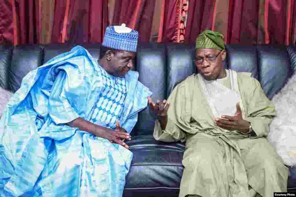 Ziyarar tsohon shugaban Najeriya Olusegun Obasanjo a Plato