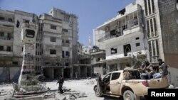 Jisr al-Shugor, Suriya. 26-aprel, 2015-yil.