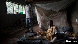 Centre pour déplacés à Bangui en Centrafrique le 24 avril 2017.