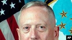 美國中央司令部指揮官詹姆斯.馬蒂斯將軍(資料圖片)