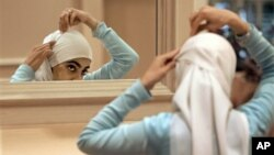 Une femme en hijab, Rosemont, Alabama, le 1er septembre 2006 (AP Photo/M. Spencer Green)