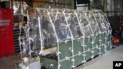Jedinica za vazdušni transport pacijenata zaraženih ebolom (snimak Centara za kontrolu i prevenciju bolesti u Atlanti)