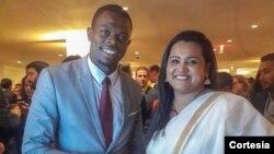 alisto do Nascimento, presidente do CNJ, com Jayathma Wyckramanayake, enviada especial para a juventude