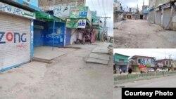 بلوچستان کے مختلف شہروں میں ہڑتال کے مناظر
