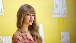 Taylor Swift arrives at the 46th Annual Country Music Awards in Nashville, Tennessee, last week
